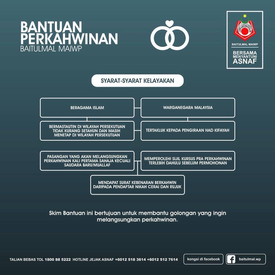 Bantuan Perkahwinan Baitulmal Maiwp Mfdjannah